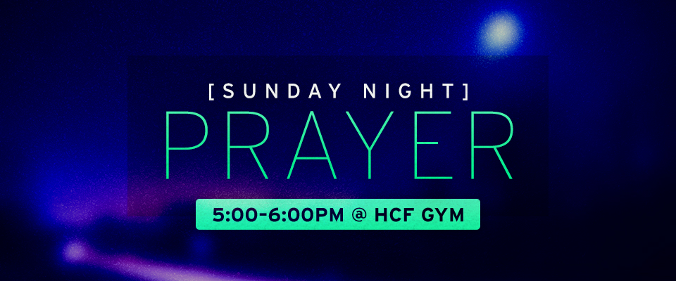 Sunday Night Prayer