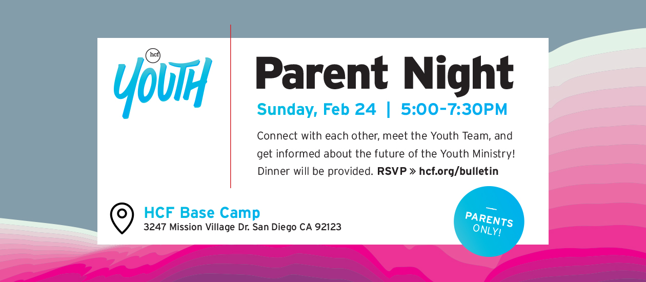 HCF Youth - Parent Night